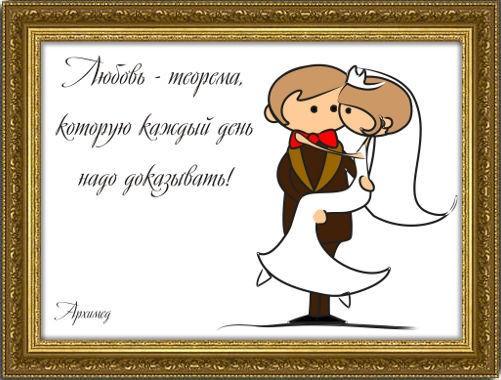 Свадебный плакат Любовь – теорема...