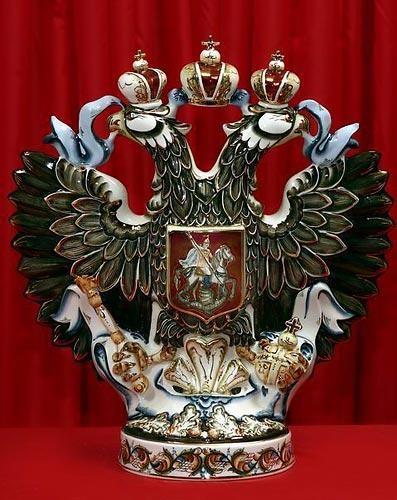 Штоф Орел с золотом