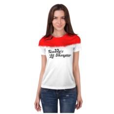 Женская футболка 3D с полной запечаткой Daddy's lil monster