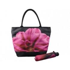 Набор «Георгин» из складного зонта и сумки для шопинга