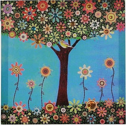 Панно-картина Весенний луг