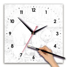 Часы-раскраска Пейзаж акварелью