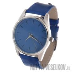 Часы Mitya Veselkov Классика в синем (кобальтовый)