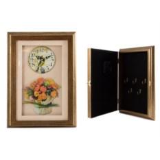 Картина с часами Хризантемы