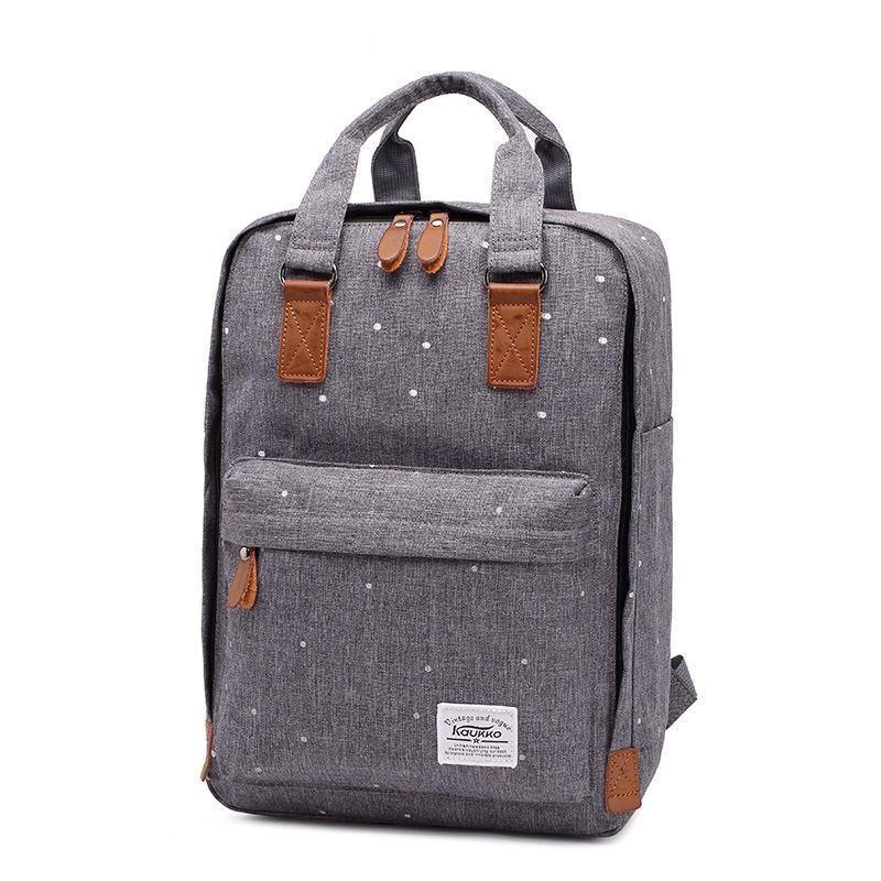 Модный серый вариативный рюкзак
