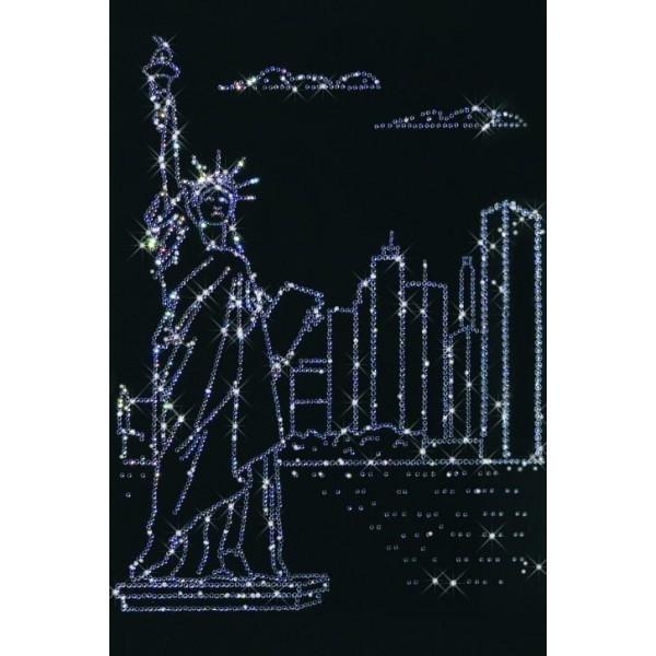 Картина с кристаллами Swarovski Нью-Йорк