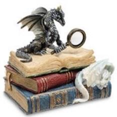 Статуэтка Дракон на книгах