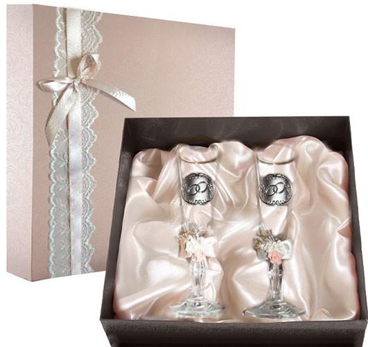 Набор свадебных бокалов Ретро №25 в подарочной коробке