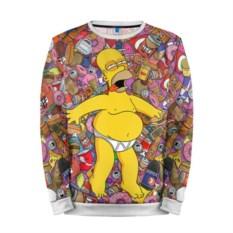 Мужской свитшот 3D с полной запечаткой Гомер