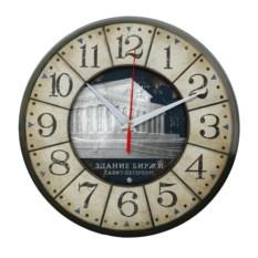 Круглые сувенирные часы Санкт-Петербург. Биржа