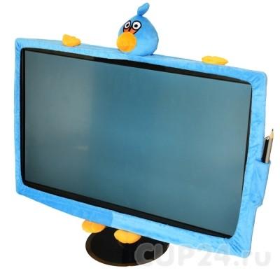 Чехол на монитор Angry birds (голубой)