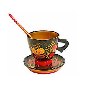 Чайная пара с ложкой