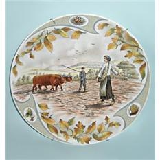 Коллекционная тарелка Limoges Сельские будни