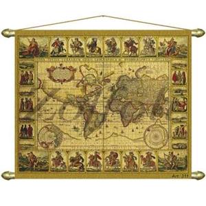 Панно — Репродукция старинной карты Zoffoli