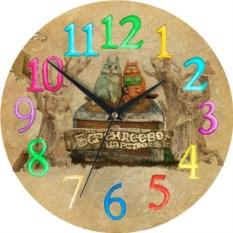 Сувенирные часы с разноцветными цифрами Сочи