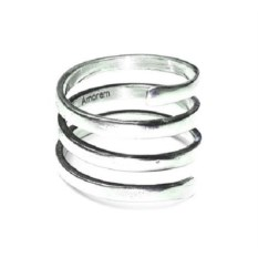 Кольцо Пружинка, серебро 925
