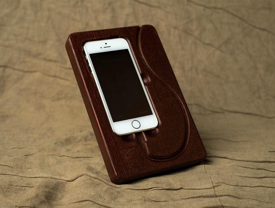 Док Станция для iPhone 5,5S,SE Дуб