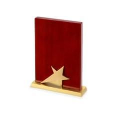 Красная наградная плакетка Звезда