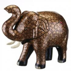 Фигурка Коричневый слон с поднятым вверх хоботом