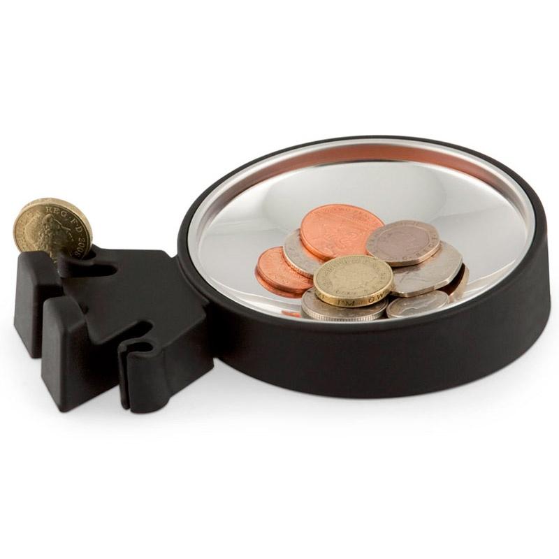 Тарелка для монет Big Head черная