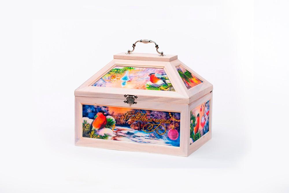 Подарочный новогодний набор Сундук Снегири