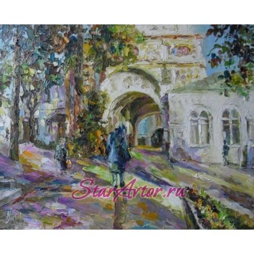 Авторская картина Городской пейзаж Надвратный храм