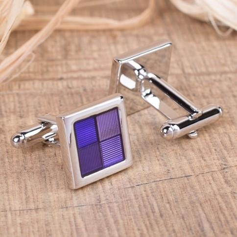 Запонки «Фиолетовый квадрат»