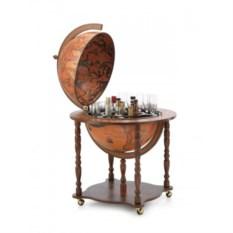 Деревянный глобус-бар для спиртного
