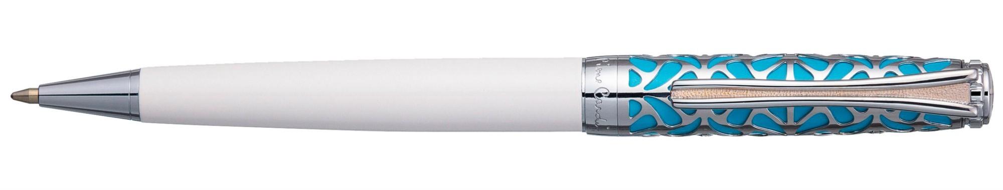 Бело-бирюзовая шариковая ручка Pierre Cardin Color-Time