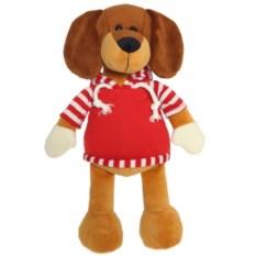 Мягкая игрушка Собака в красной кофте (34 см)