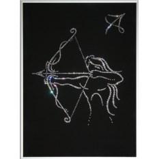 Картина с кристаллами Swarovski Стрелец-14