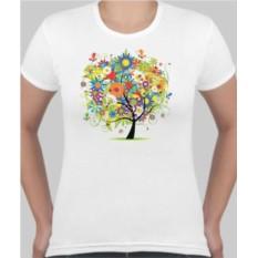 Женская футболка Цветочное дерево