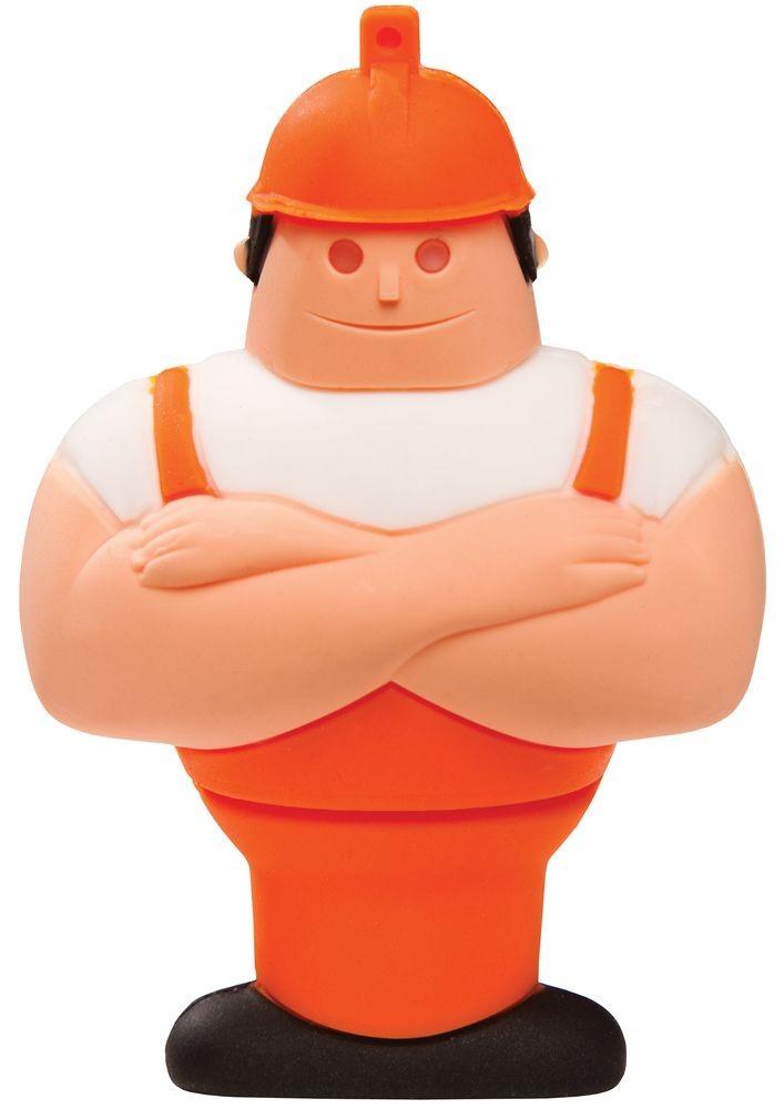 Флешка «Человек труда» на 8 Гб, оранжевый