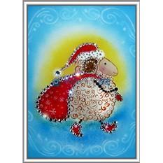 Картина с кристаллами Swarovski Овечка – символ Года