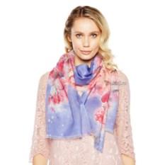 Розово-голубой женский палантин Tranini