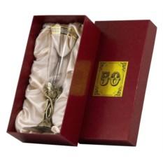 Бокал для шампанского 50 лет в картонном футляре