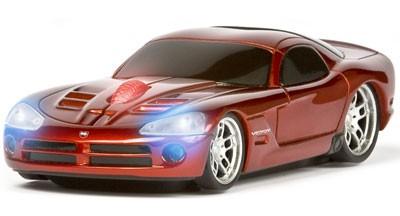 Компьютерная мышь в виде RoadMice Dodge Red Silver