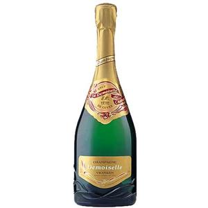 Шампанское белое брют Demoiselle. Tete de Cuveeo
