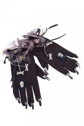 Маскарадные перчатки для взрослых Паук