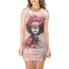3D платье с короткими рукавами День мертвецов