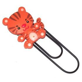 Закладка-скрепка тигренок