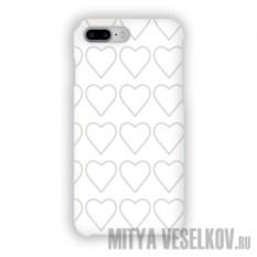 Чехол для iPhone 7 Plus Сердца-нашивки