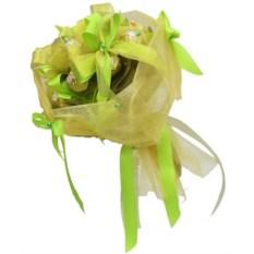 Зеленый букет из конфет Очарование