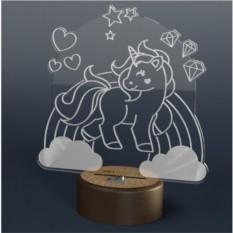 3D светильник Onilight Единорог