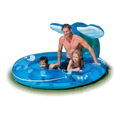 Надувной бассейн с фонтанчиком Кит