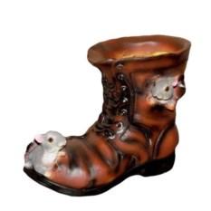 Кашпо Ботинок с мышками