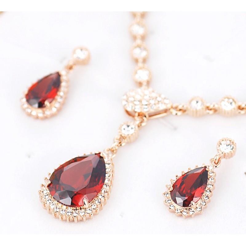 Рубиновый комплект с камнями Сваровски «Совершенство»