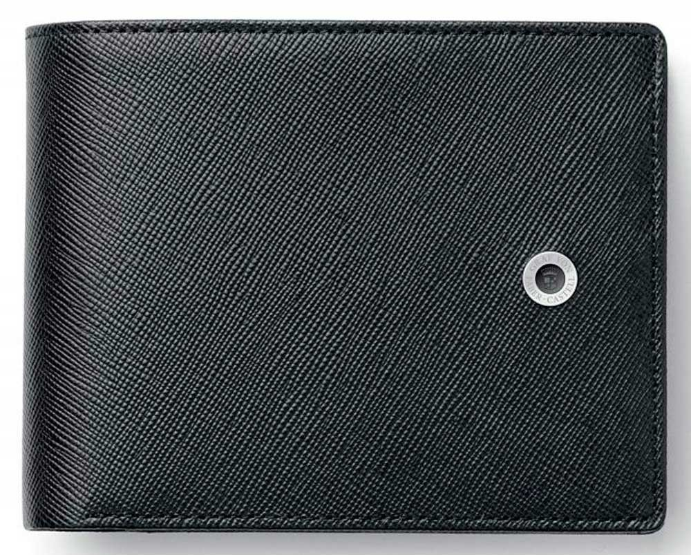 Черный бумажник Graf von Faber-Castell Saffiano