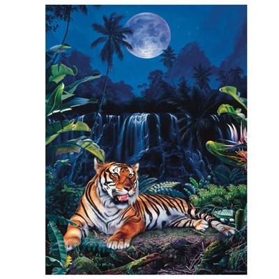 Пазл Тигр у водопада
