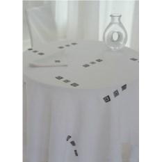 Дорожка на стол и салфетки Сапфировые квадратики